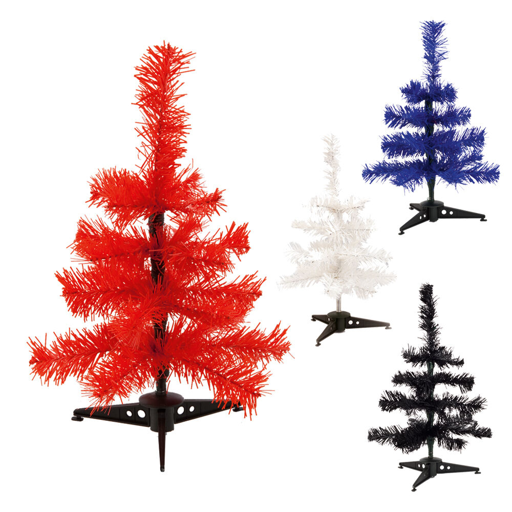30cm coloured christmas tree mini desk top holiday for Artificial christmas decoration tree