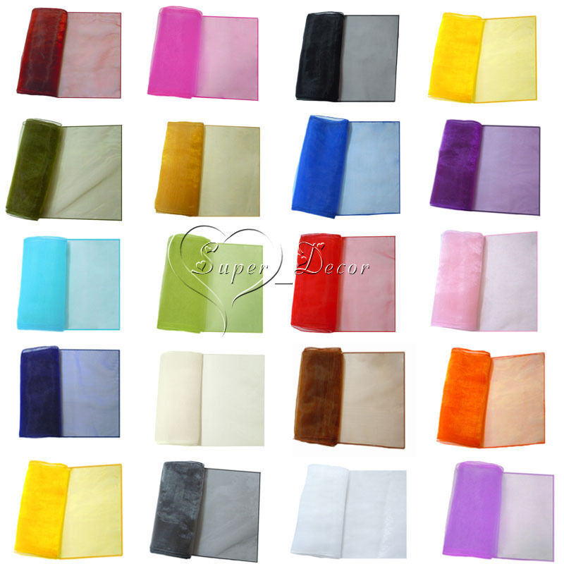 30 x 275cm organza table runners 12 x 108 wedding for 12 x 30 table