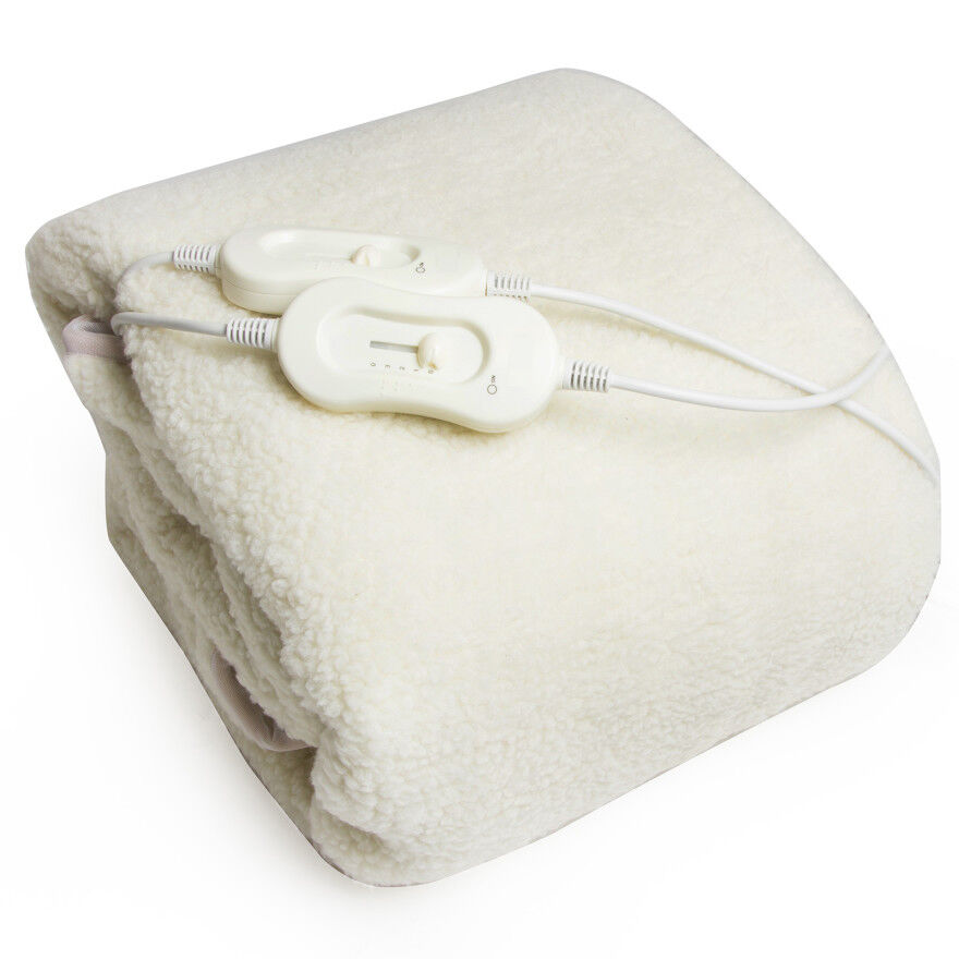 Electric Under Blanket Fully Fitted Double Luxury Fleece