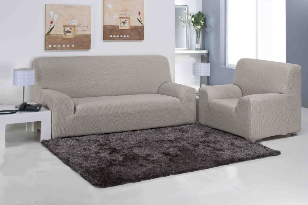 3 seater easy stretch elastic fabric sofa settee slip for Loveseat stretch covers
