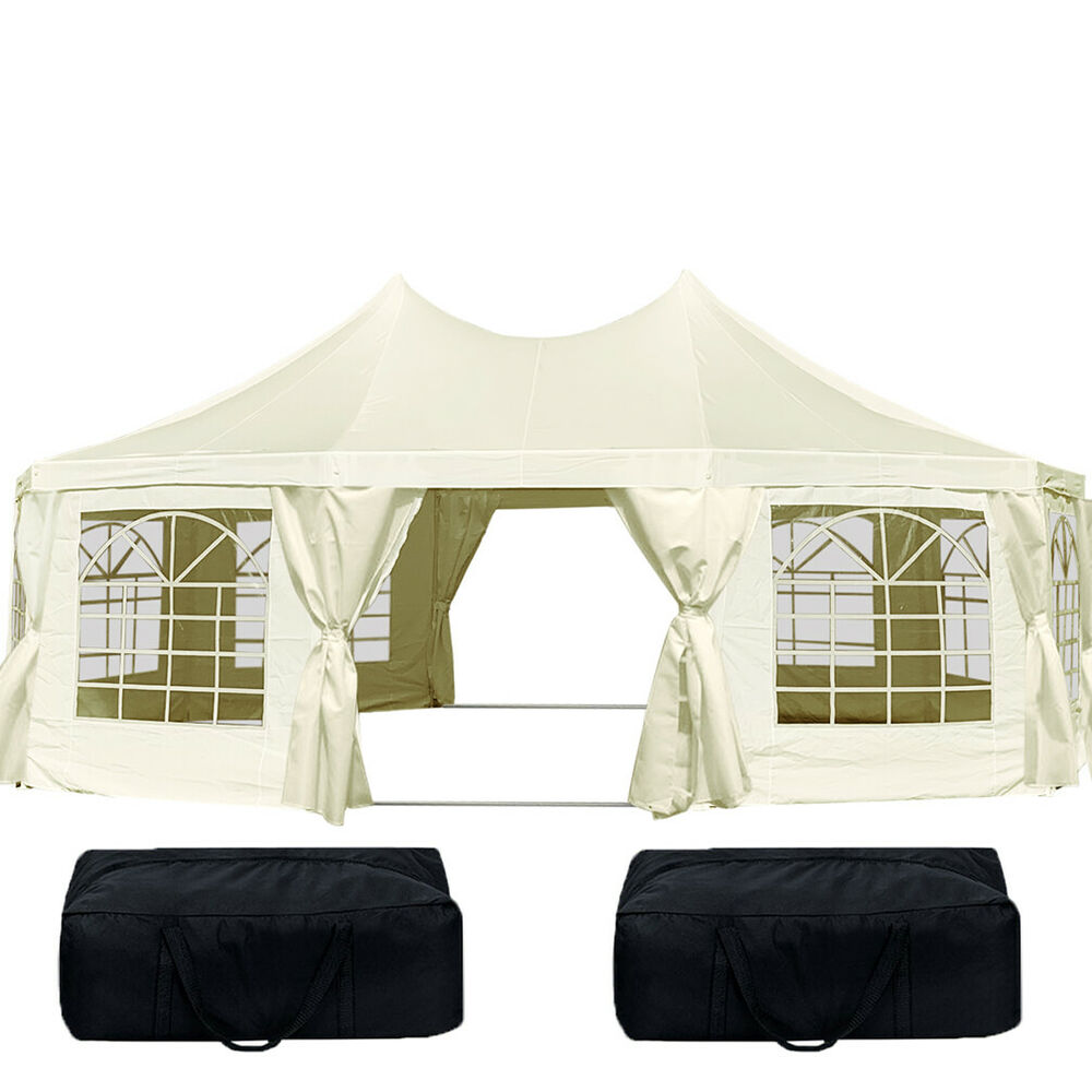 quictent 2016 9 x 6 5m octagonal heavy duty party wedding marquee tent gazebo ebay. Black Bedroom Furniture Sets. Home Design Ideas