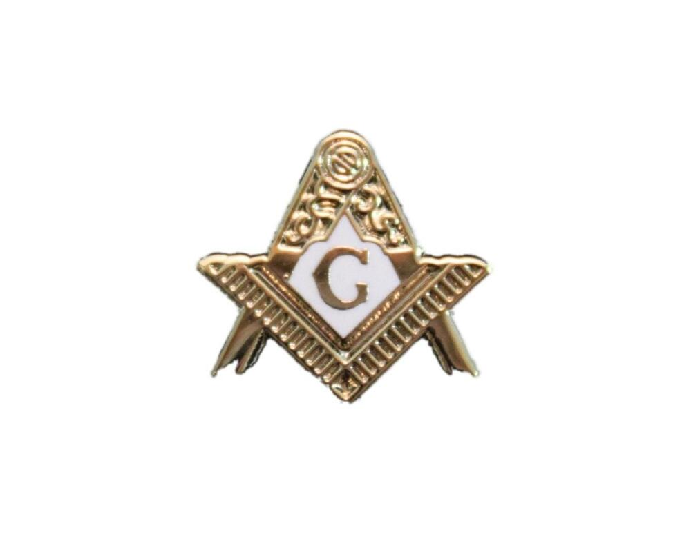 entered apprentice masonic freemason lapel pin