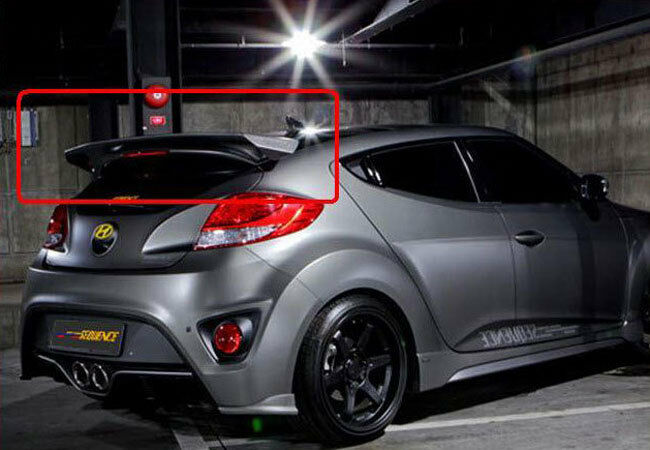 Fit Hyundai 2012 Veloster Turbo Rear Roof Trunk Lip