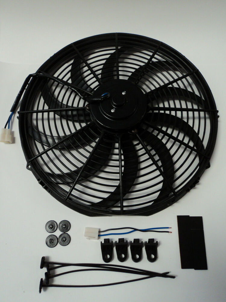 History About The Electric Fan : Quot heavy duty radiator electric fan cfm brand new