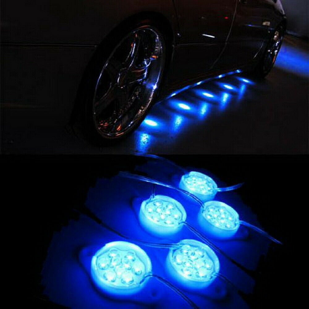 blue 95 brabus style 45 led lights for under car puddle lighting ground effect ebay. Black Bedroom Furniture Sets. Home Design Ideas