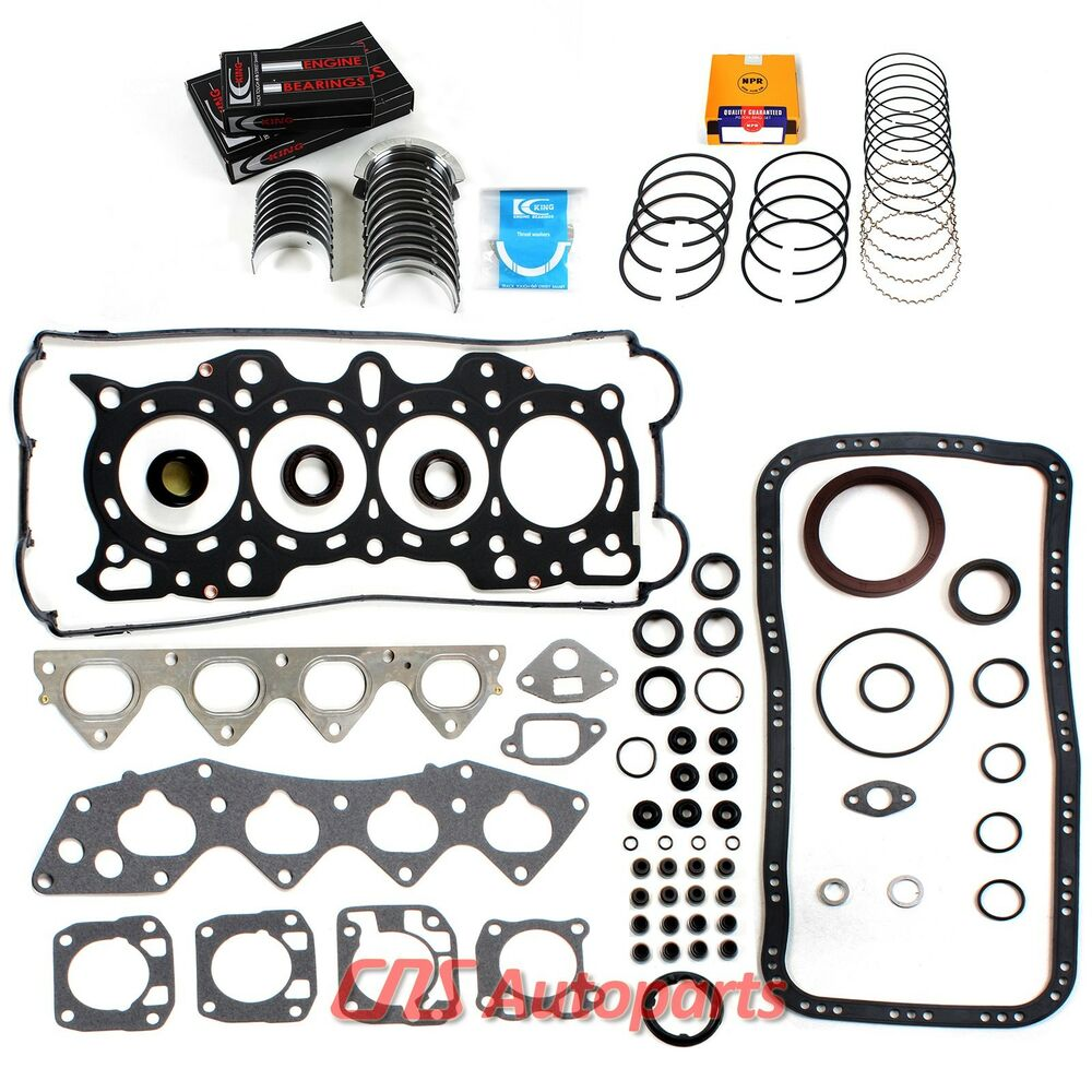 Acura Integra 1.8L Engine Re-Ring Kit B18A1 B18B1 Full