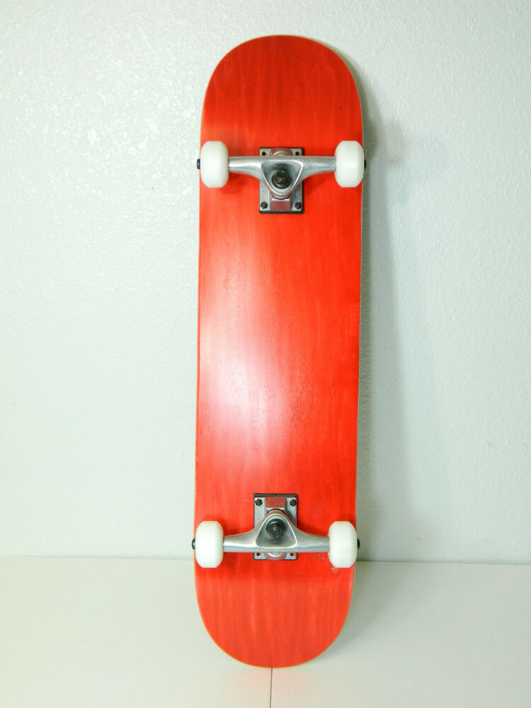 """Red Blank Complete 7.75"""" Skateboard 7ply Maple Deck 5.0"""