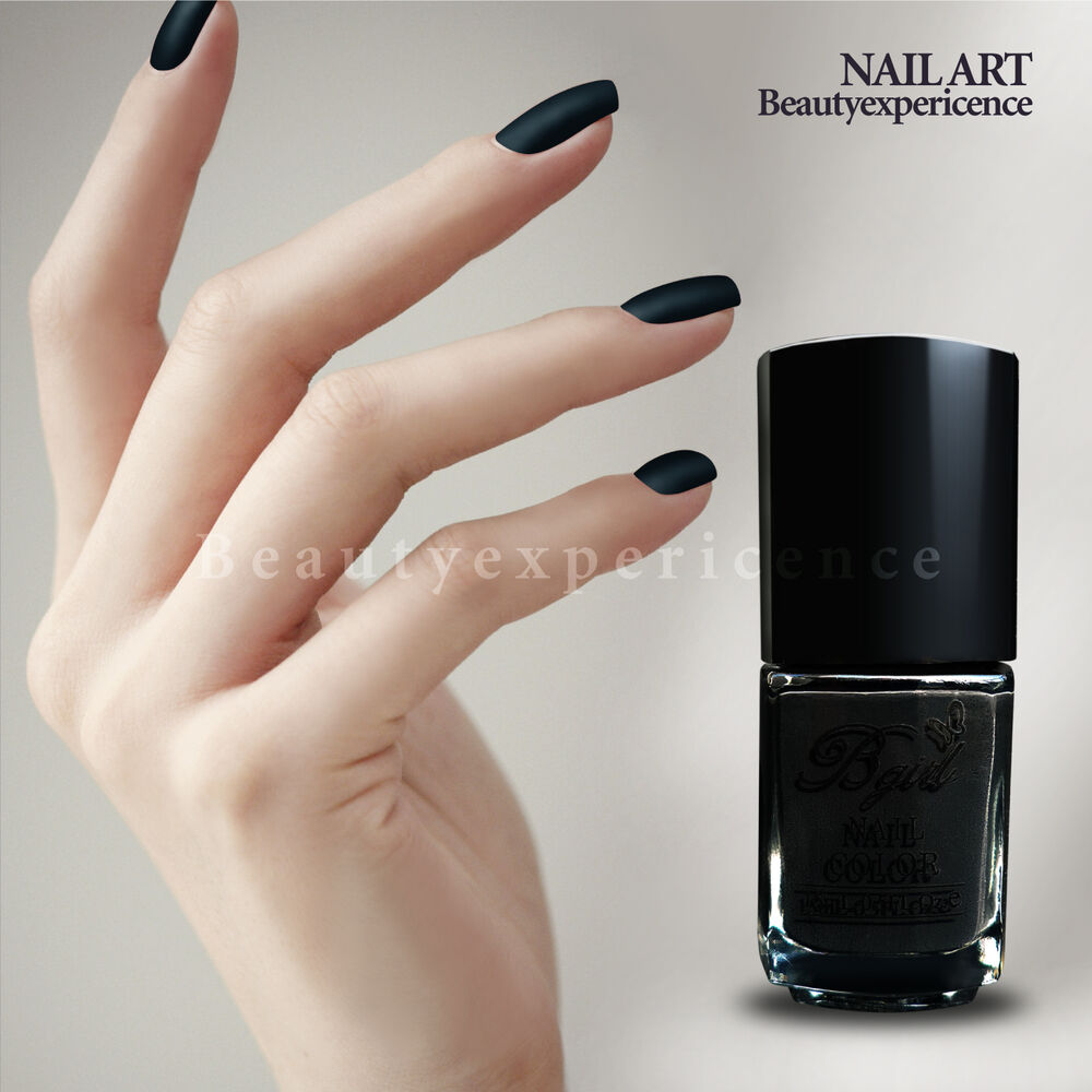 Black Nail Polish Ebay: High Quality Black Matte Nail Art Dull Nail Polish 15ml