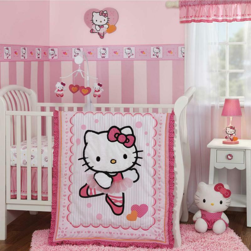 Bedroom Ideas Hello Kitty Soft Bedroom Colors Childrens Turquoise Bedroom Accessories Bedroom Decorating Ideas Gray And Purple: Hello Kitty Ballerina Cute Pink And White Baby Girls