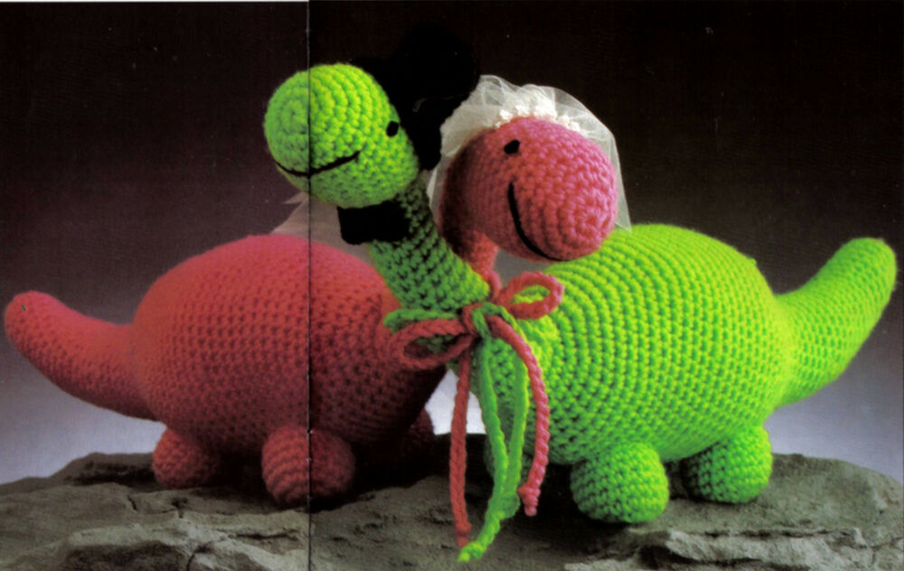 Free Toy Knitting Patterns Only : CUTE Mr & Mrs Dinosaur/ Toy/ Crochet Pattern Instructions eBay