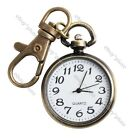 Hot ! Vintage Round Classical Pocket Key Chain Watch Pendant