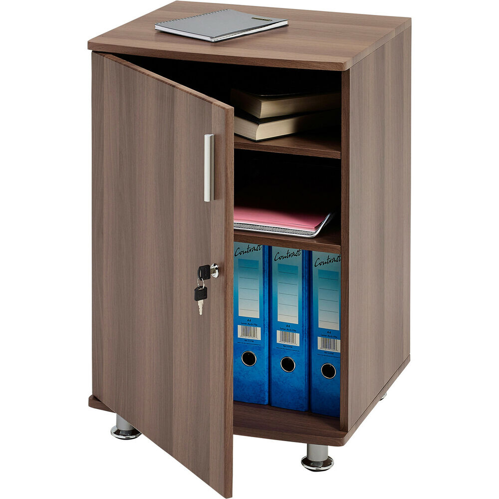 Home Office Desktop Extension Storage Cabinet With Lock