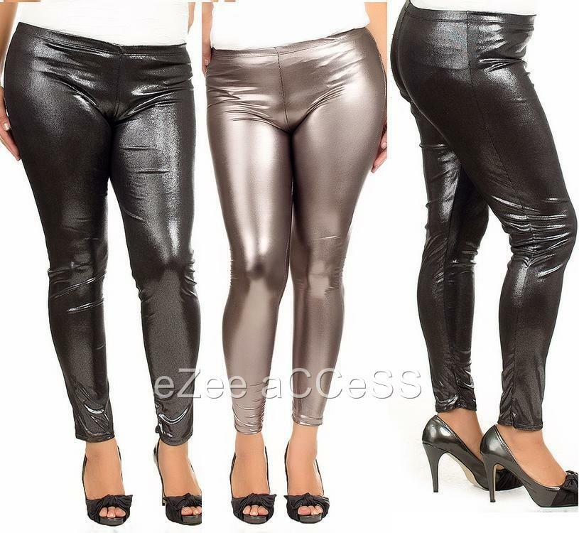 SeXY WoMeNS PLuS SiZe LeGGiNGS TiGHTS PaNTS WeT LooK GoTHiC ...