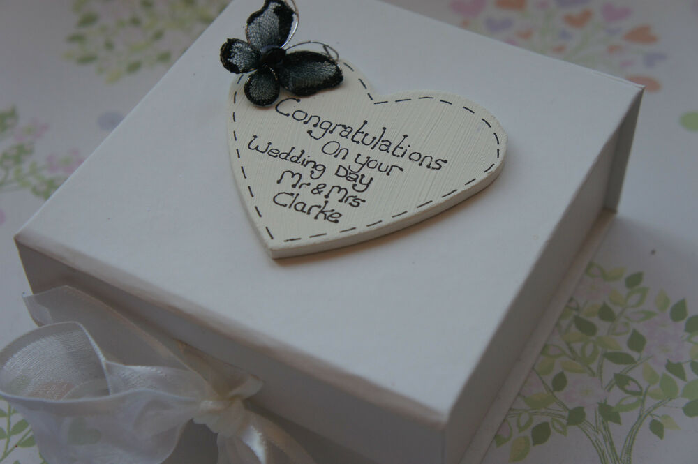 Wedding Gift Box Ebay : Personalised Wedding Keepsake Gift Box eBay