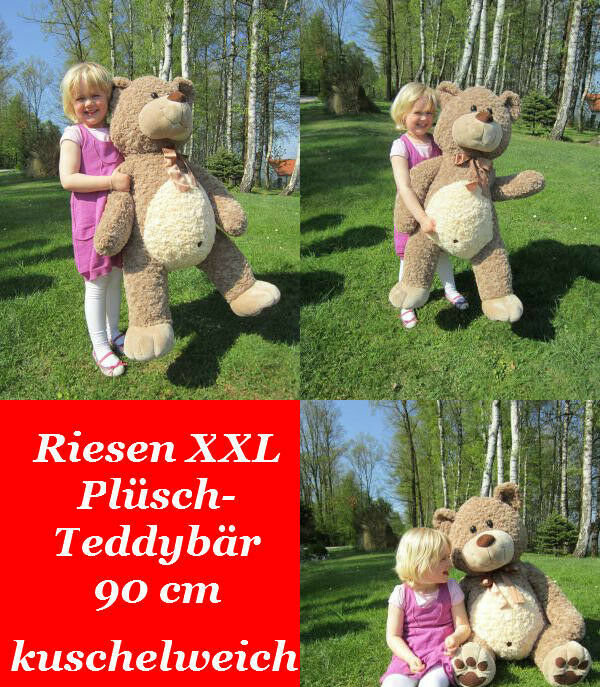riesen xxl pl sch teddy b r pl schb r kuschelb r gro er kuschelteddy kuscheltier ebay. Black Bedroom Furniture Sets. Home Design Ideas