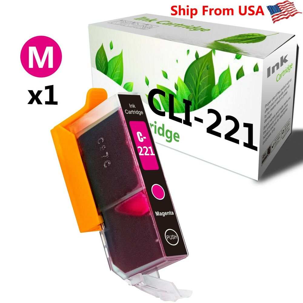 1 Pack CLI221 Magenta Ink Cartridge For Canon PIXMA MX870