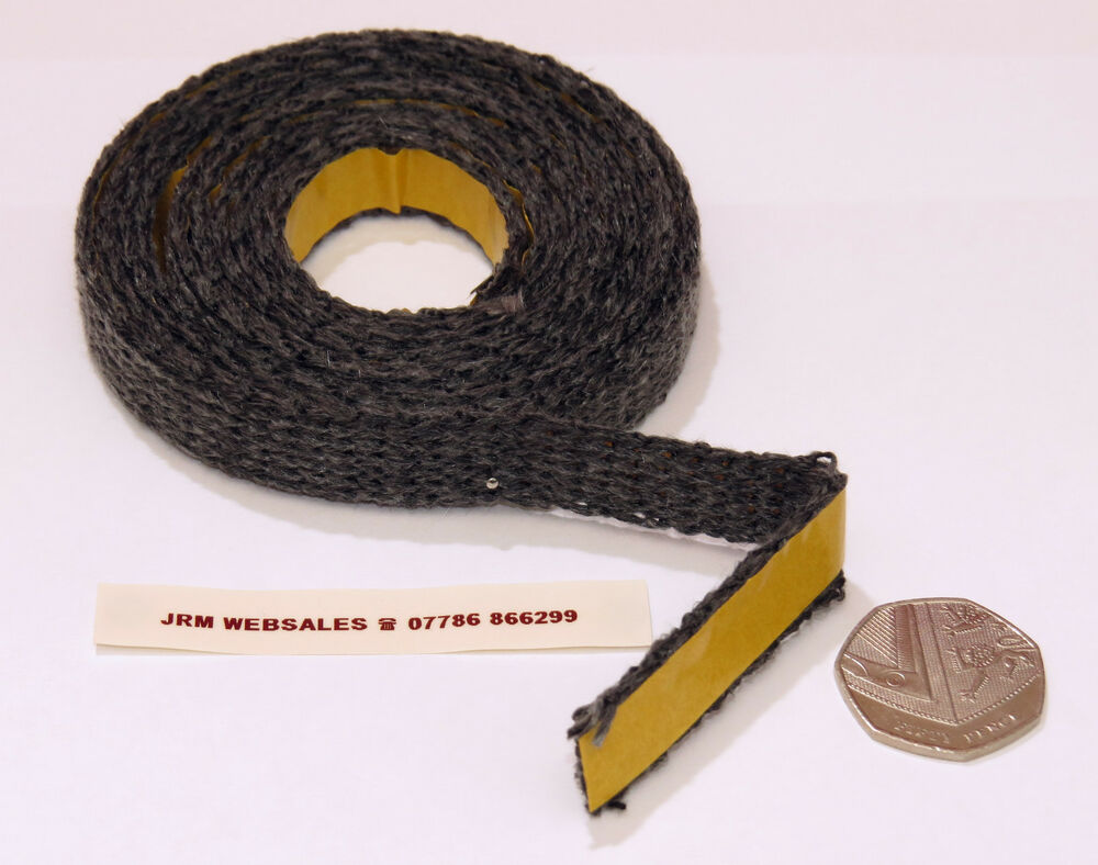 Stove Glass Sealing Tape Black Fire Glass Rope Black