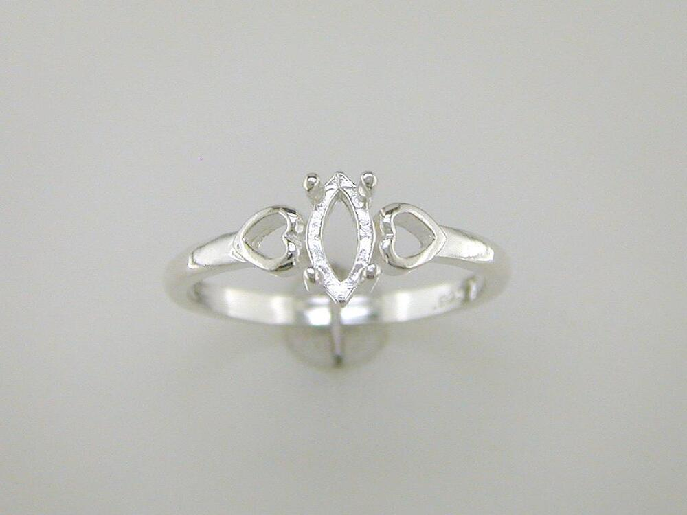 marquise shank solitaire ring setting sterling