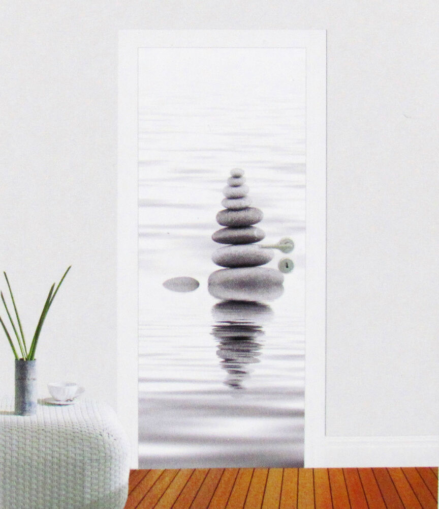 t r fototapete ruhe stein wasser zen feng shui t r tapete t r poster bild tapete ebay. Black Bedroom Furniture Sets. Home Design Ideas