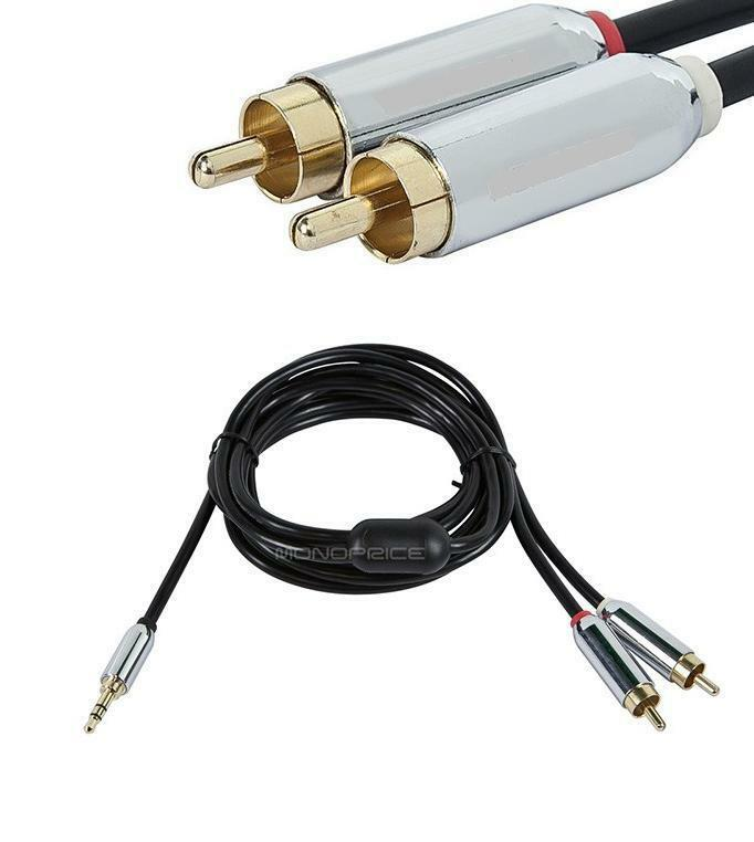Iphone 5 5g 5s 10ft 3 5mm To 2 Rca Male Auxiliary
