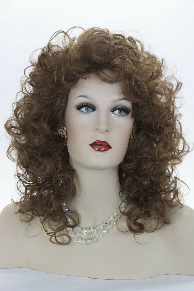Auburn Red Medium Wavy Curly Wigs | eBay