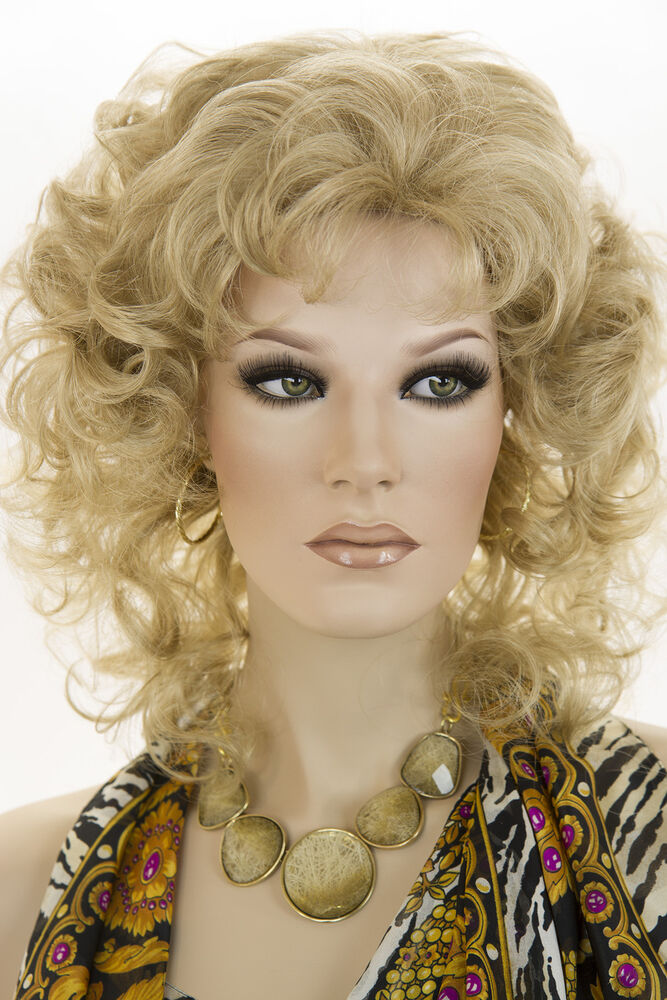 Light Golden Blonde Blonde Medium Curly Wigs Ebay