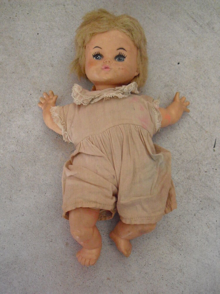 Vintage 1968 Horsman Vinyl And Cloth Baby Girl Doll 10