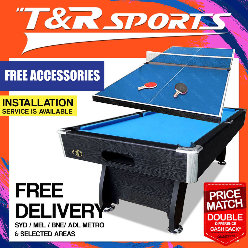 New 8ft blue pool table snooker billiard 12mm standard - What is the size of a ping pong table ...