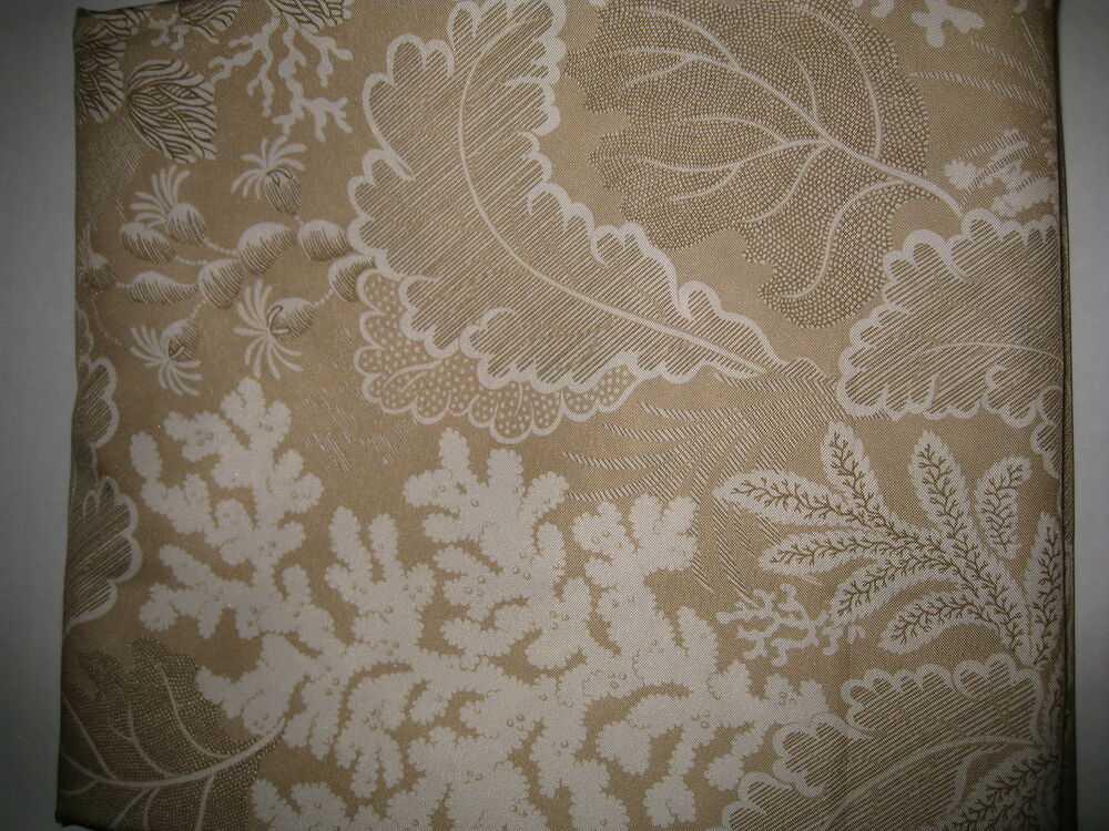 Waverly Hidden Reef Coral Serene Beach Tan Cream Fabric