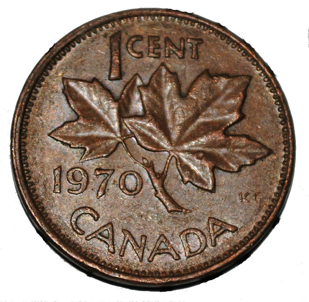 Canada 1970 1 Cent Copper One Canadian Penny Coin Ebay