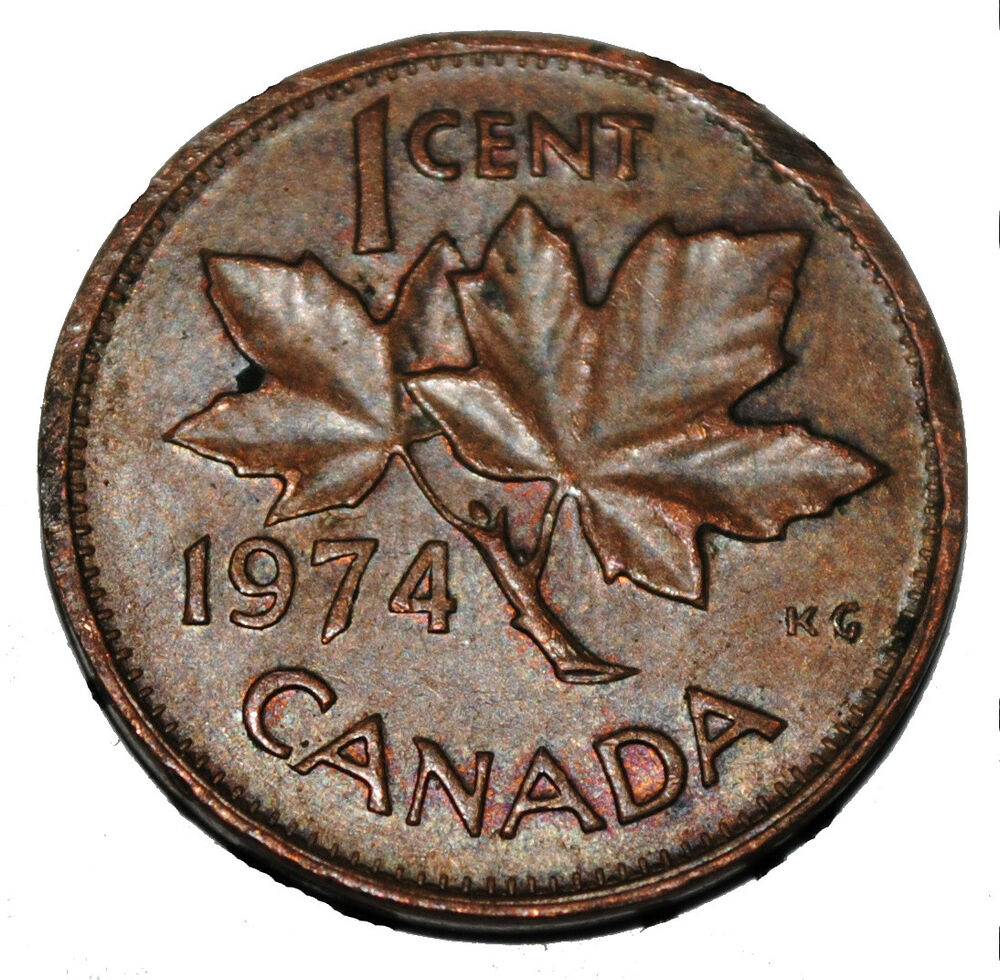 Canada 1974 1 Cent Copper One Canadian Penny Coin Ebay