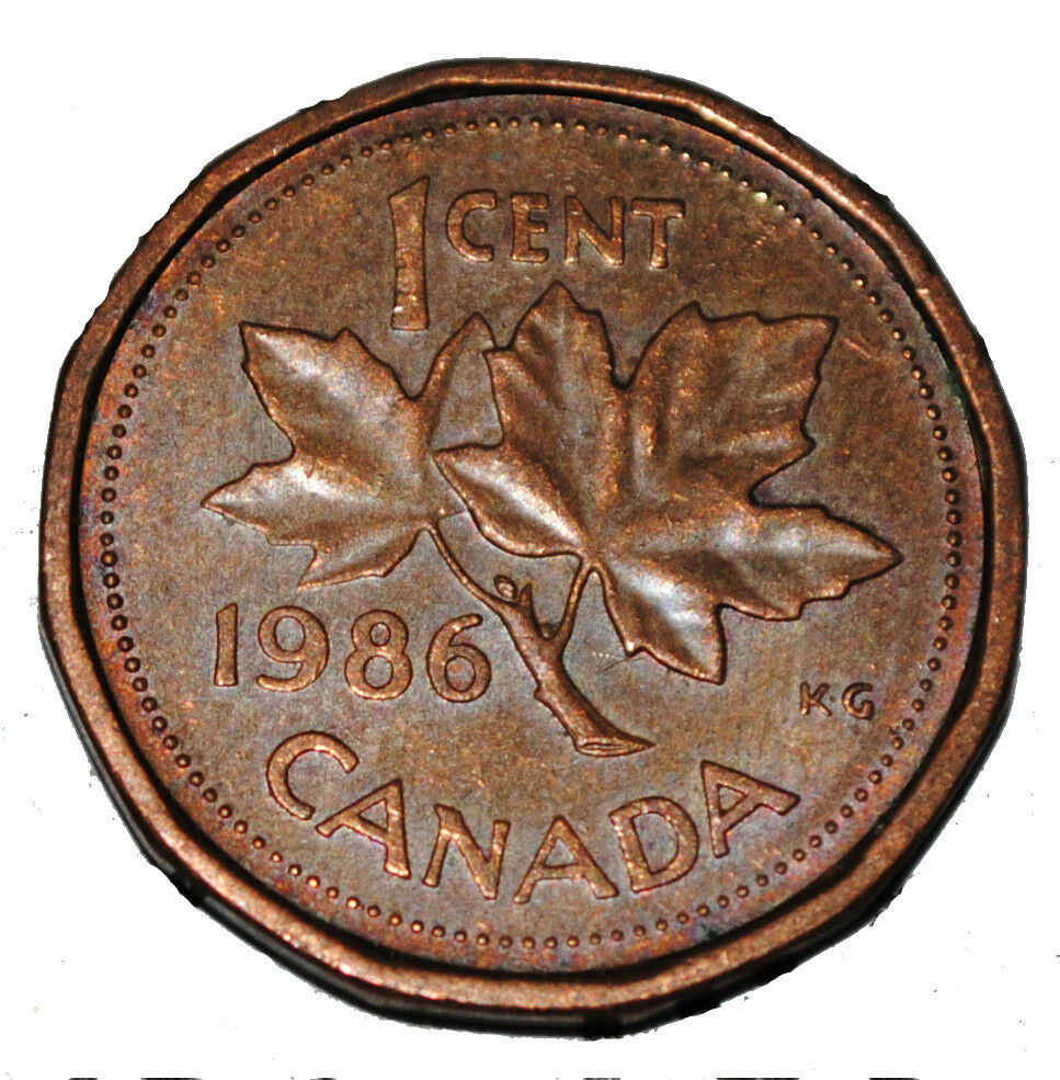 Canada 1986 1 Cent Copper One Canadian Penny Coin Ebay