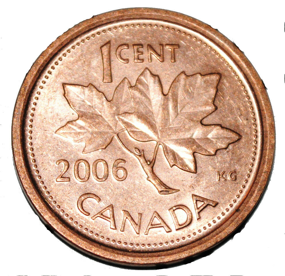 Canada 2006 L 1 Cent Steel One Canadian Penny Coin Logo M Magnetic Ebay