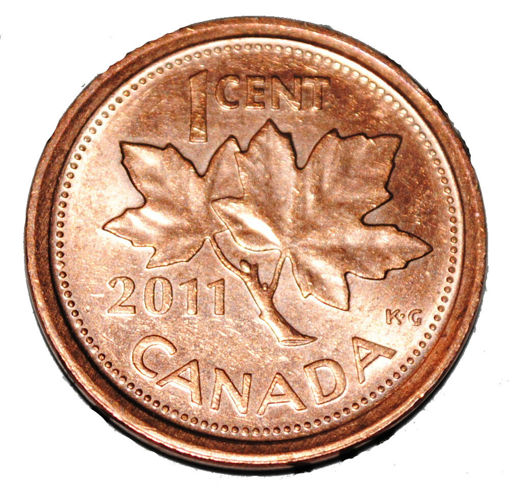 Canada 2011 L 1 Cent Steel One Canadian Penny Coin Logo M Magnetic Ebay