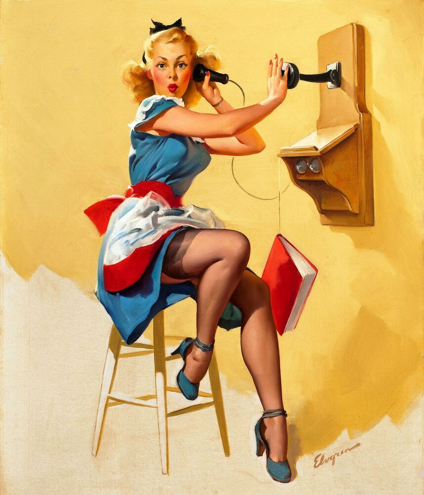 vintage pin up girl retro burlesque risque poster ebay. Black Bedroom Furniture Sets. Home Design Ideas