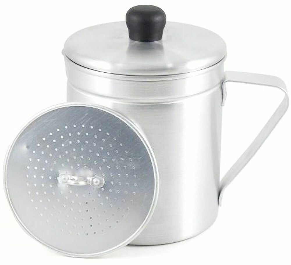 Aluminum Grease Saver Pot With Strainer Save Cooking Oil 1