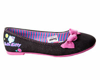 NEW GIRLS OFFICIAl HELLO KITTY BLACK DOLLY PUMPS/SHOES UK SIZE 6-12