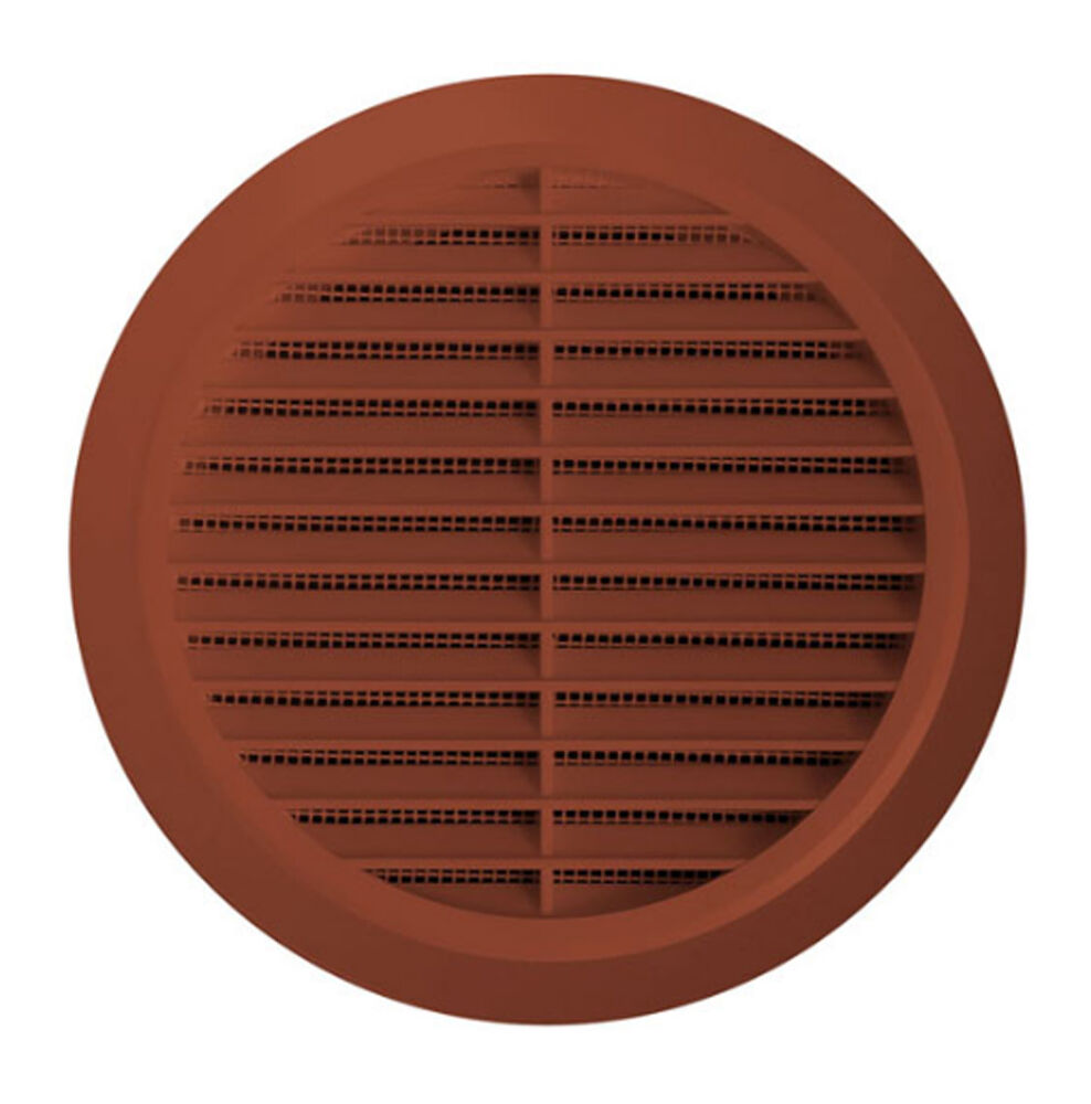 Ventilation Ducts Information : Circle air vent grill cover mm ducting brown