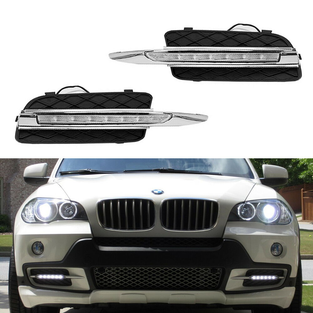 2007 10 bmw x5 18w high power led daytime running lights. Black Bedroom Furniture Sets. Home Design Ideas