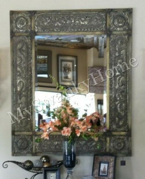 """Oversize 60"""" ANTIQUE Embossed METAL Extra Large Wall"""