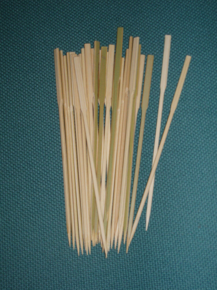 15cm wooden tapered skewers sticks ideal for canapes for Canape cocktail sticks