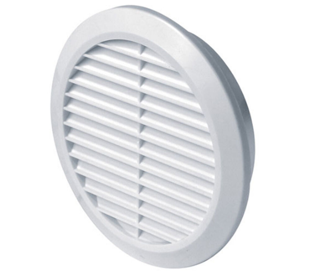 Ventilation Ducts Information : Circle air vent grill cover mm ducting white