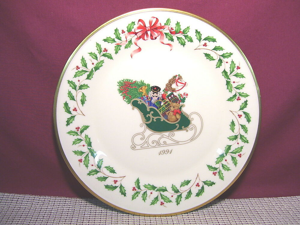 Lenox China Holiday Annual Christmas Plate 1991 First ...