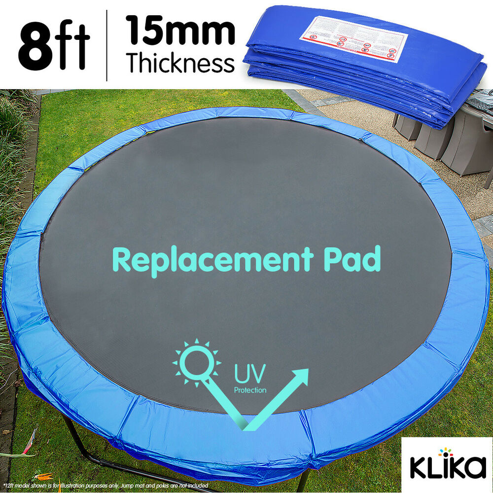 New 8ft Replacement Reinforced Outdoor Round Trampoline