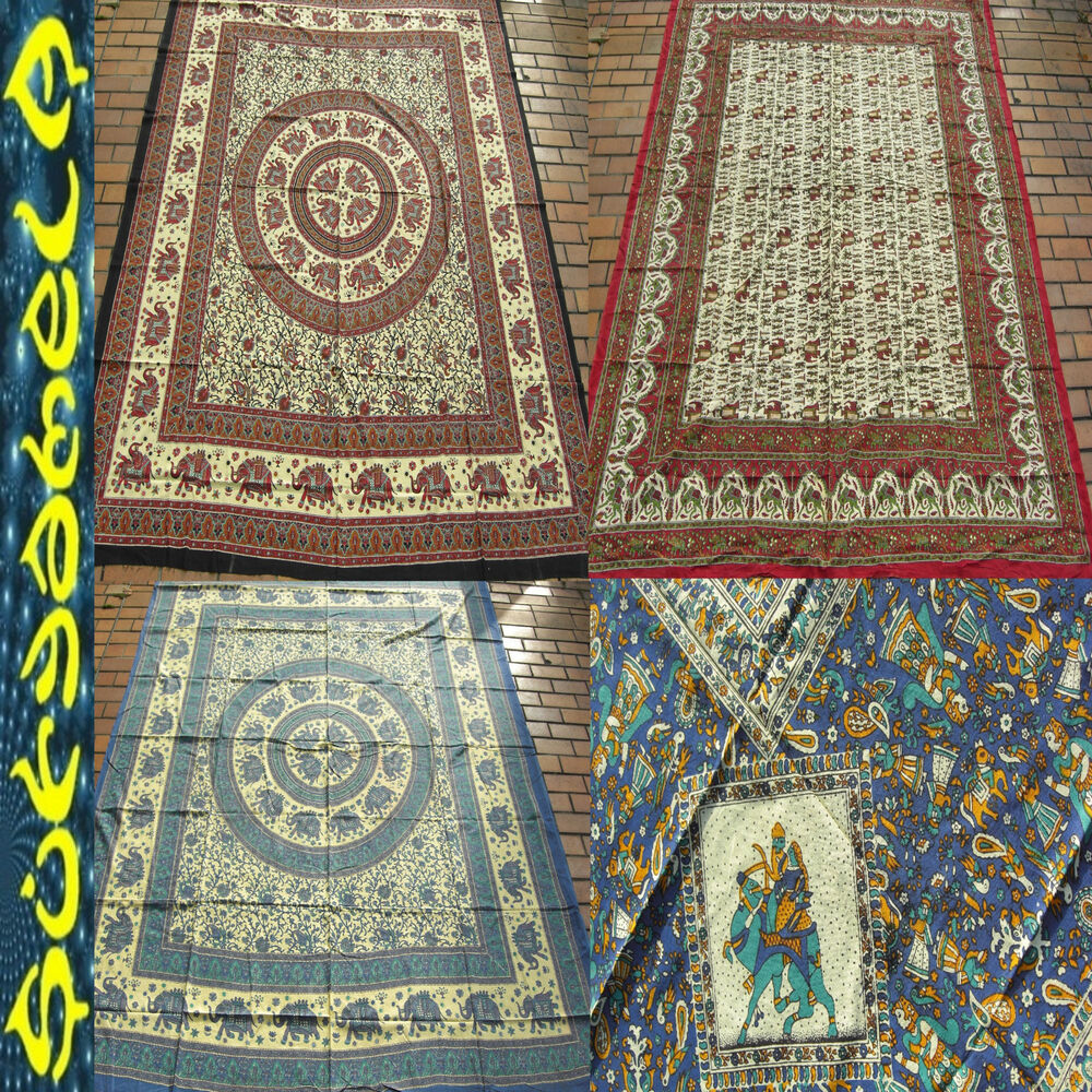 Tagesdecke wandbehang elefant paisley indien inde couvre for Tagesdecke paisley