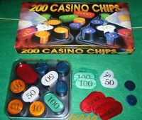 200 NUMBERED POKER CHIPS WITH CASE - ROULETTE LOW PRICE