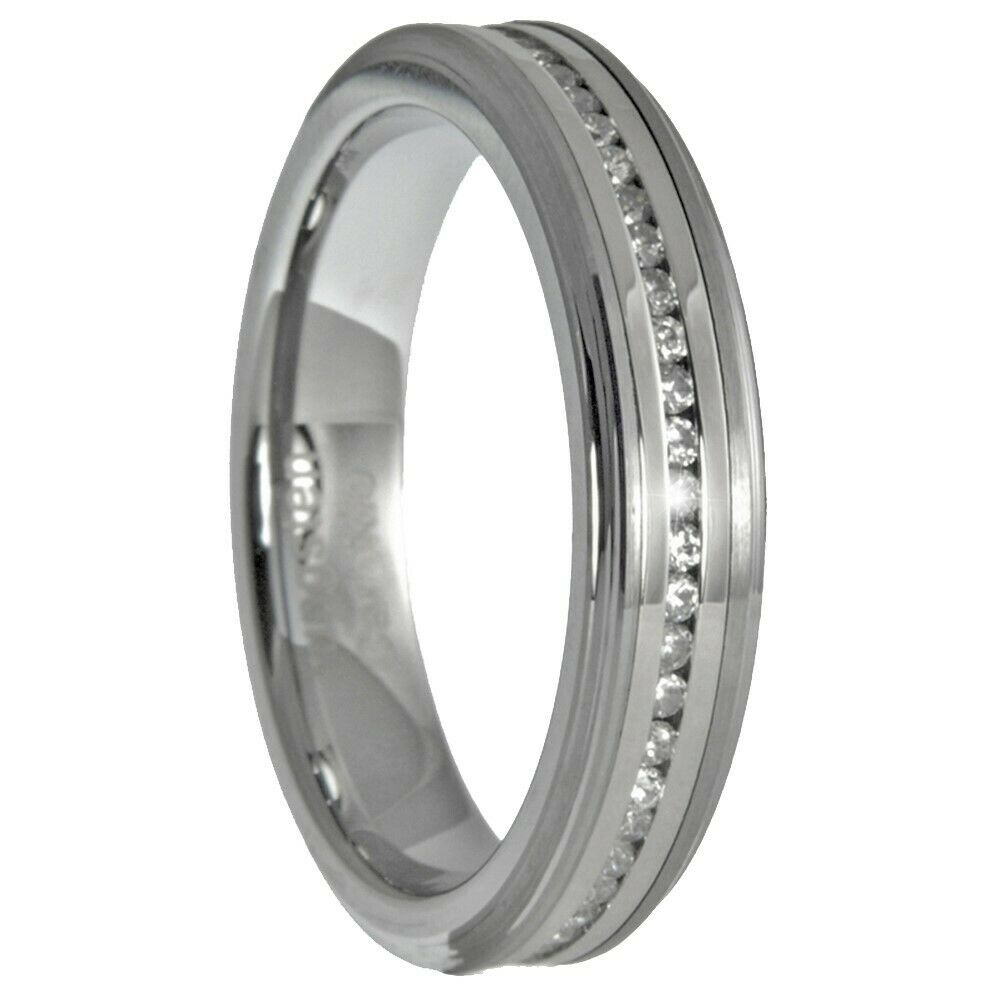 tungsten carbide eternity ring bridal wedding band size 7 12 ebay