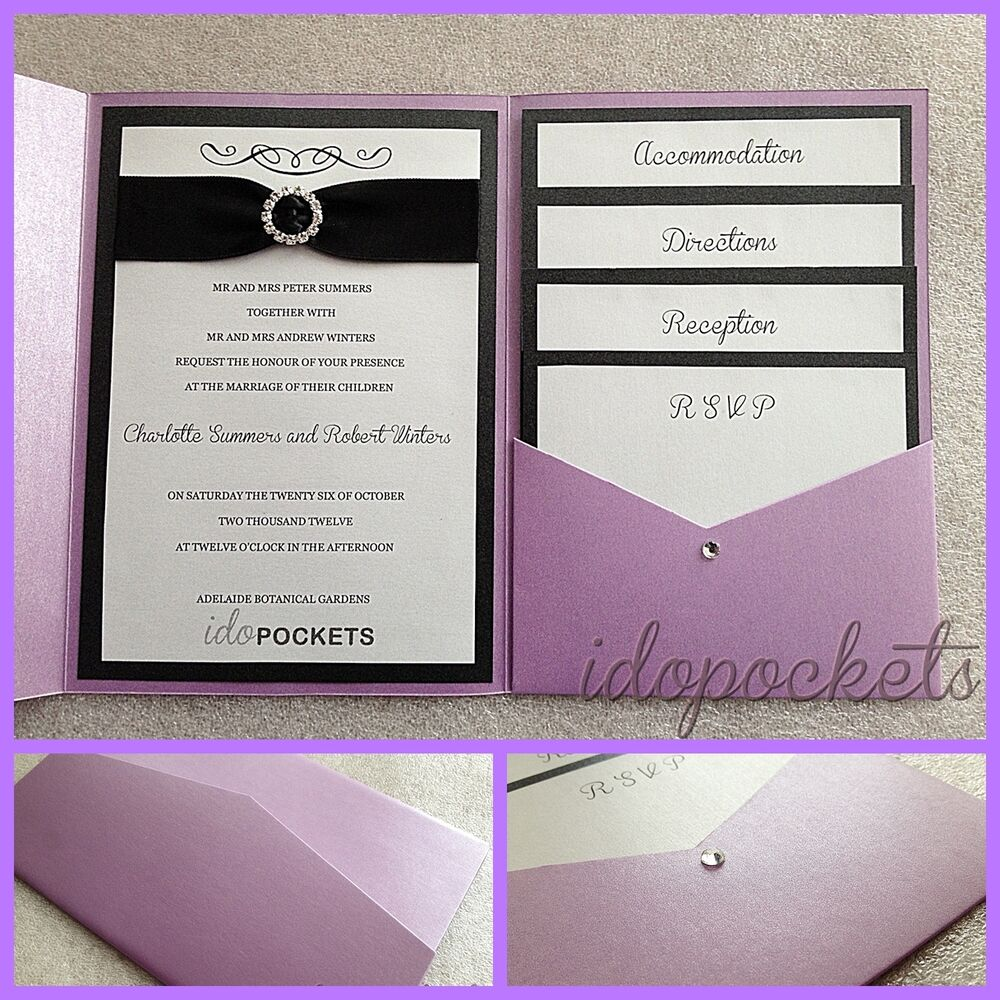 DIY Invitation Pocket | eBay
