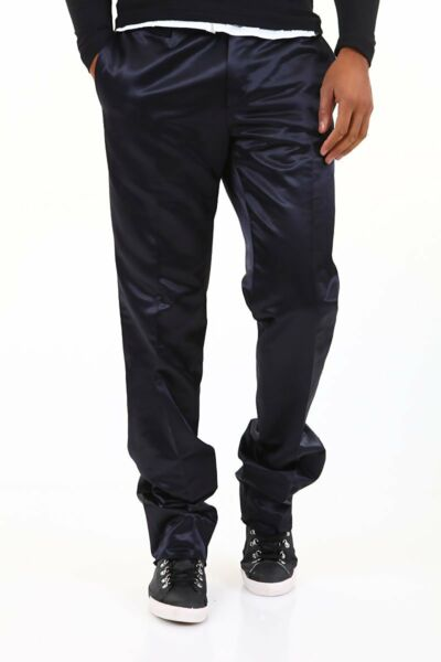 Pantaloni Uomo ABSOLUT JOY Effetto Lucido Made in Italy Trousers A687 Tg S M L