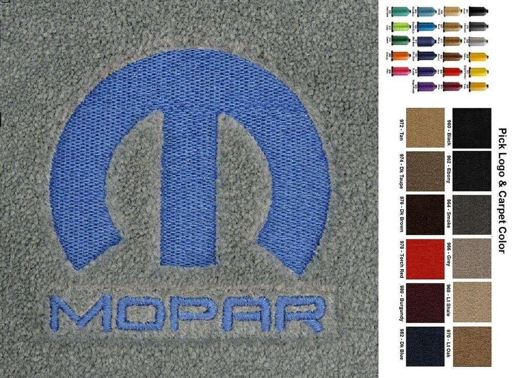 Lloyd Mats Chrysler Custom Embroidered Mopar Velourtex